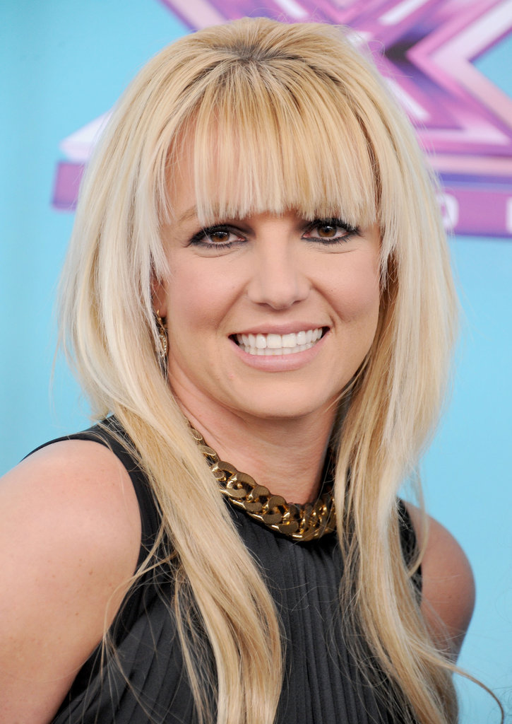 Britney Spears posed on the carpet.
