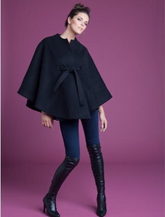 Ingrid & Isabel Belted Wool Cape