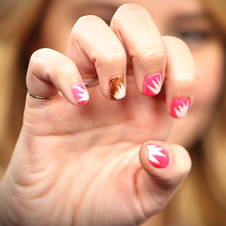 DIY Starburst Nail Art Video Tutorial