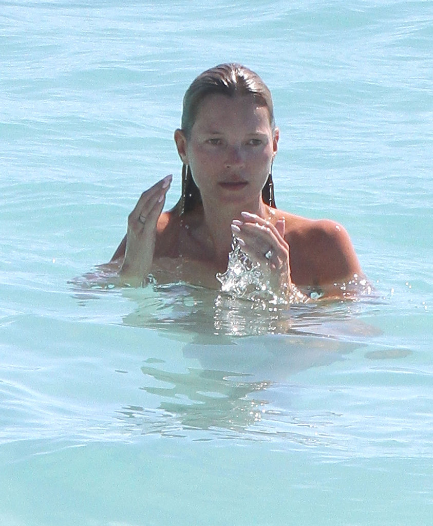 Kate Moss took a dip.