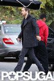 Ryan Reynolds wore a peacoat.