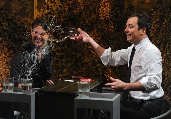 Jimmy Fallon tossed a glass of water on Tom Cruise.