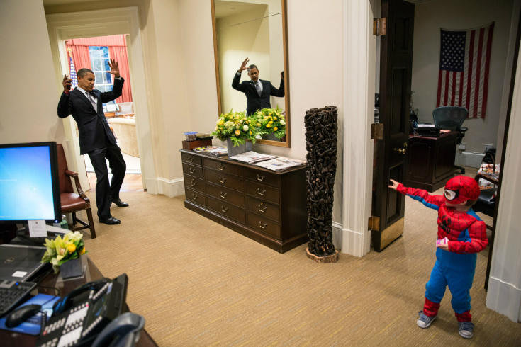 The President Caught! Obama's Best Moments With Comic Characters