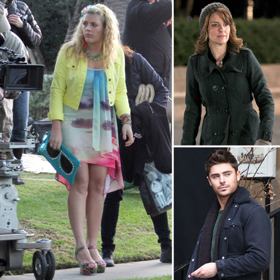 Tina Fey, Zac Efron, Busy Philipps, and More Stars on Set