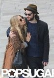 Sienna Miller got cute with Tom Sturridge in November 2011, when they went on vacation to Venice, Italy.