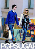 Sienna Miller carried daughter Marlowe while she walked with Tom Sturridge in NYC in October.