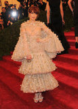 Florence Welch tried her hand at voluminous ruffles — embellished ones, at that — on the Met Gala red carpet.