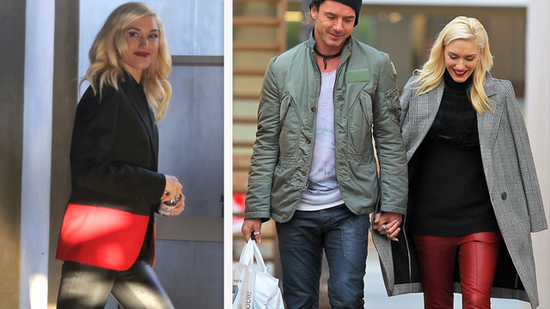 Gwen Stefani Gets Festive in Red — Twice!