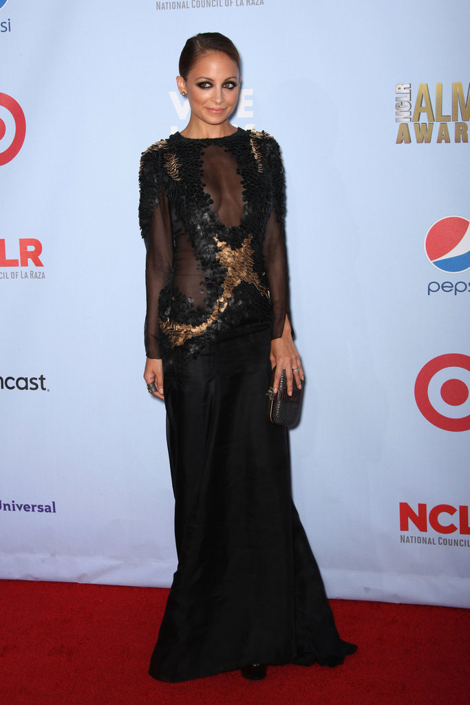 Nicole Richie didn't just go the sexy route for the ALMA Awards in September, she went ruffled, sheer, and dramatic, too. Her Mathieu Mirano gown was a sultry risk, but certainly one that paid off.