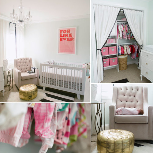 Nurseries: A Minty, Modern Nursery For a Baby Girl