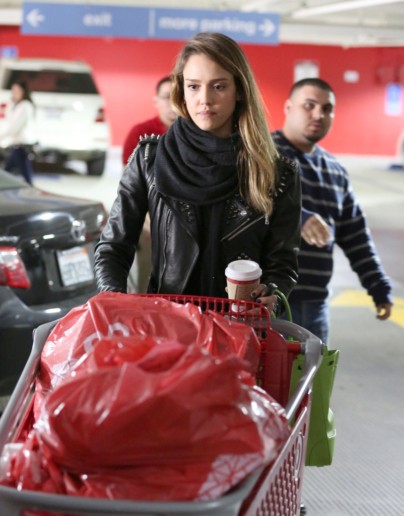 Jessica Alba did some major shopping at Target.