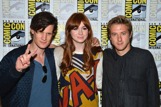 Matt Smith, Karen Gillan, and Arthur Darvill