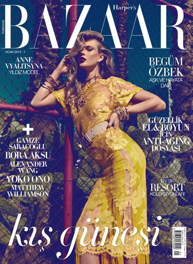 Harper's Bazaar Turkey January 2013
