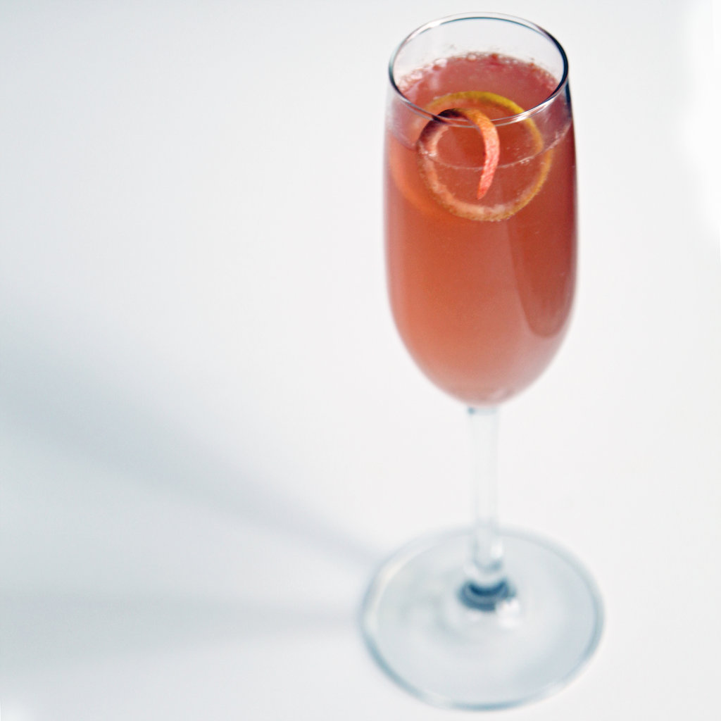 Grapefruit St. Germain Champagne Cocktail