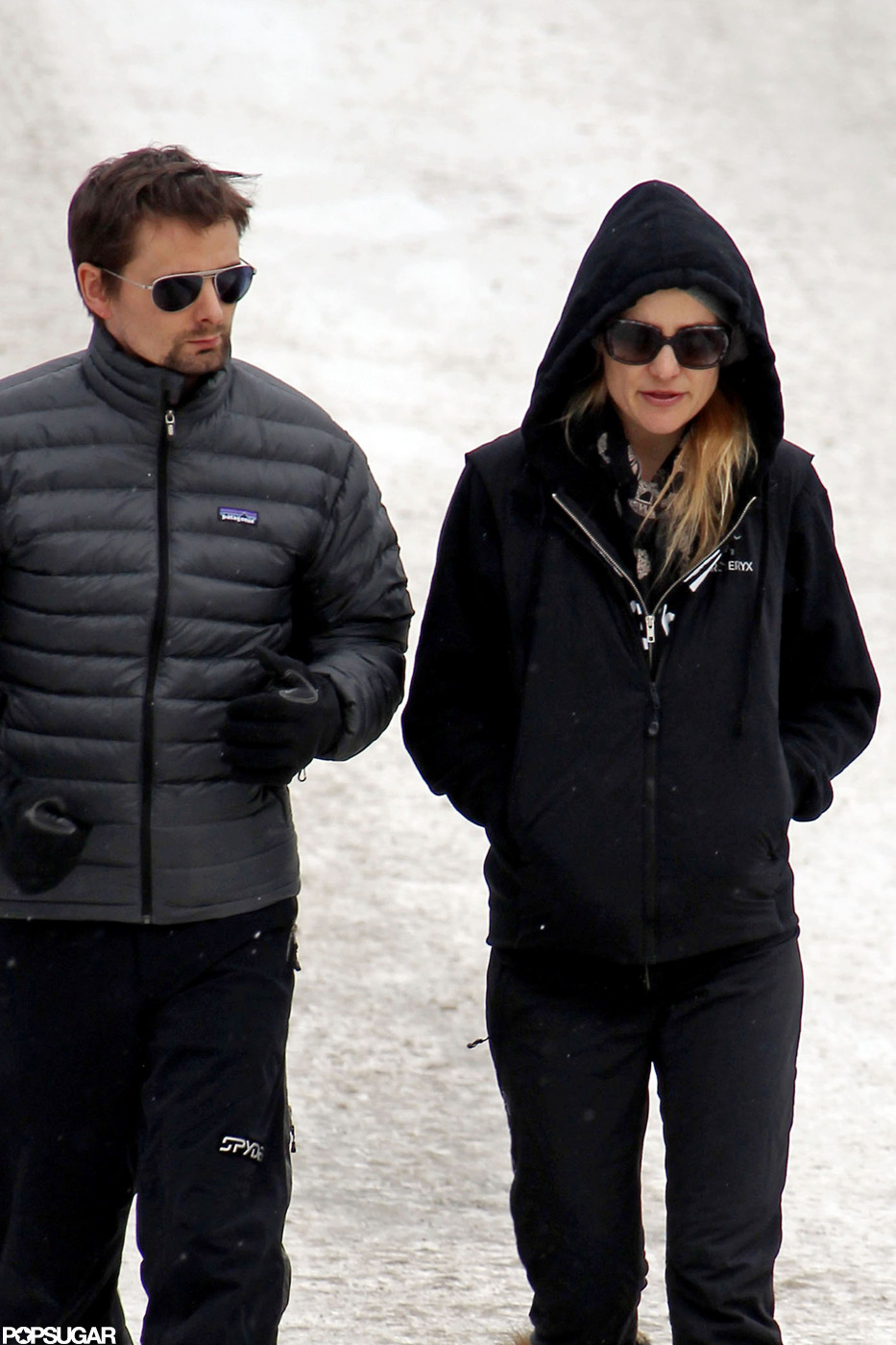 Kate Hudson and Matthew Bellamy walked snowy Aspen.