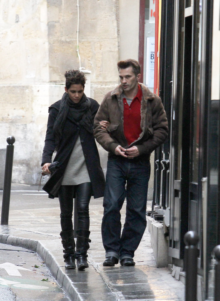 Halle Berry and Olivier Martinez bundled up on their walk through Paris.