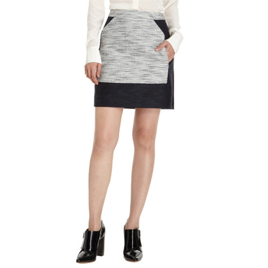 Update your wardrobe with this flattering colorblocked Phillip Lim Mélange Skirt ($159, originally $395).
