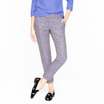 Refresh your office wardrobe with J.Crew 's printed café capri pants ($80, originally $148).