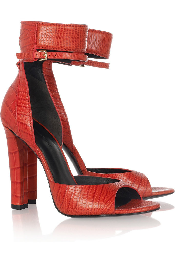 My jaw immediately dropped once I laid eyes on this gorgeous pair of Alexander Wang croc and lizard-effect sandals ($625). The sexy red hue can easily pair with cropped trousers for work, and with little black dresses for dinner dates with my boyfriend. — Chi Diem Chau, associate editor