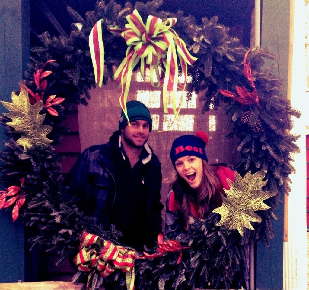 Brooklyn Decker and Andy Roddick sent holiday greetings. Source: Twitter user BrooklynDecker