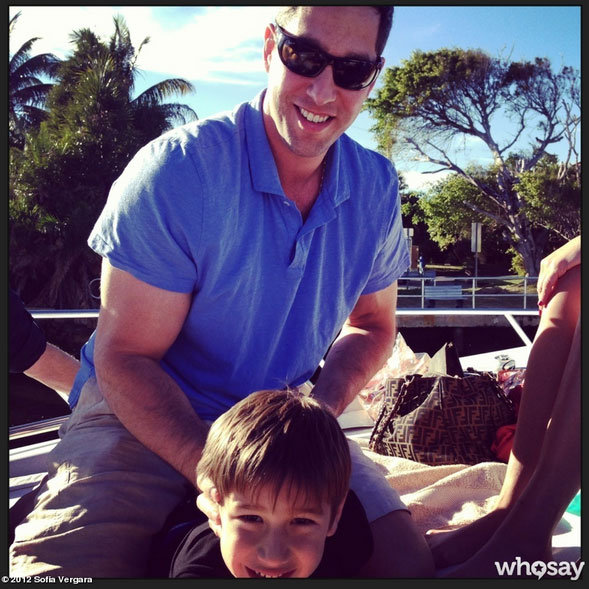 Sofia Vergara's fiancé Nick Loeb hung out on their vacation.  Sofia Vergara on WhoSay>
