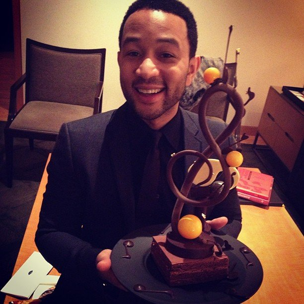 John Legend celebrated his birthday with a music-themed cake. Source: Instagram user johnlegend