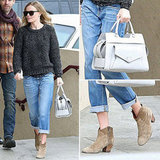 Kate Bosworth wowed us in her Isabel Marant boots and Proenza Schouler bag.