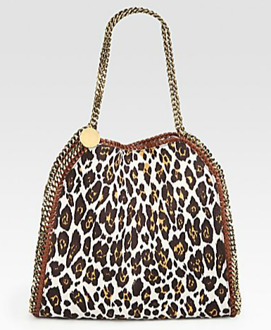 Stella McCartney's leopard-print Falabella bag ($1,185) is a fabulous update to the regular black one and can hold almost all of your prized possessions, no problem.