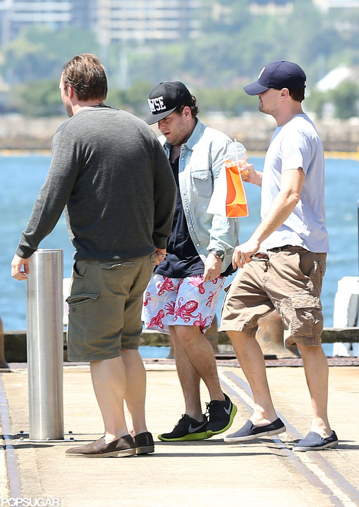 Leonardo DiCaprio joined Jonah Hill in Sydney.