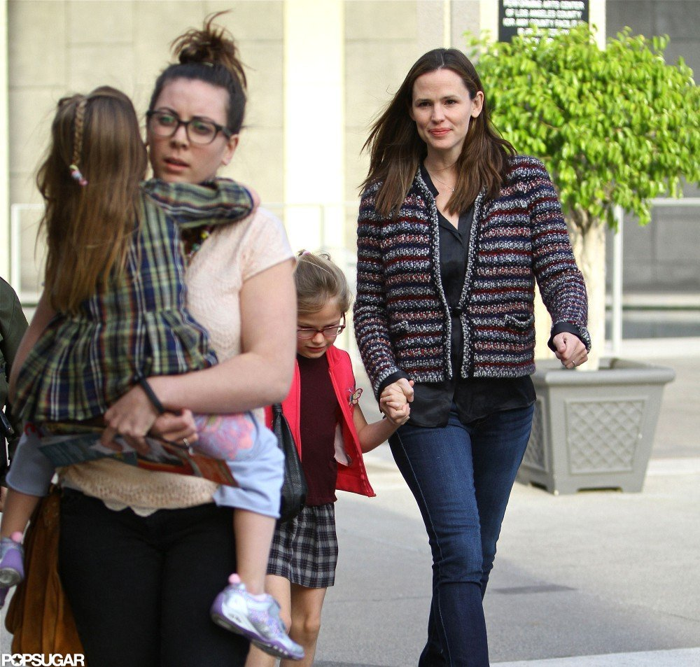 Jennifer Garner held Violet Affleck's hand in LA.