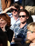 Eddie Redmayne and Tom Hooper watched the presentation.