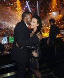 Kim Kardashian and Kanye West Celebrate NYE in Vegas With a Kiss