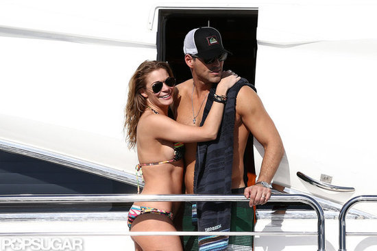 LeAnn Rimes and Eddie Cibrian showed love on a yacht.