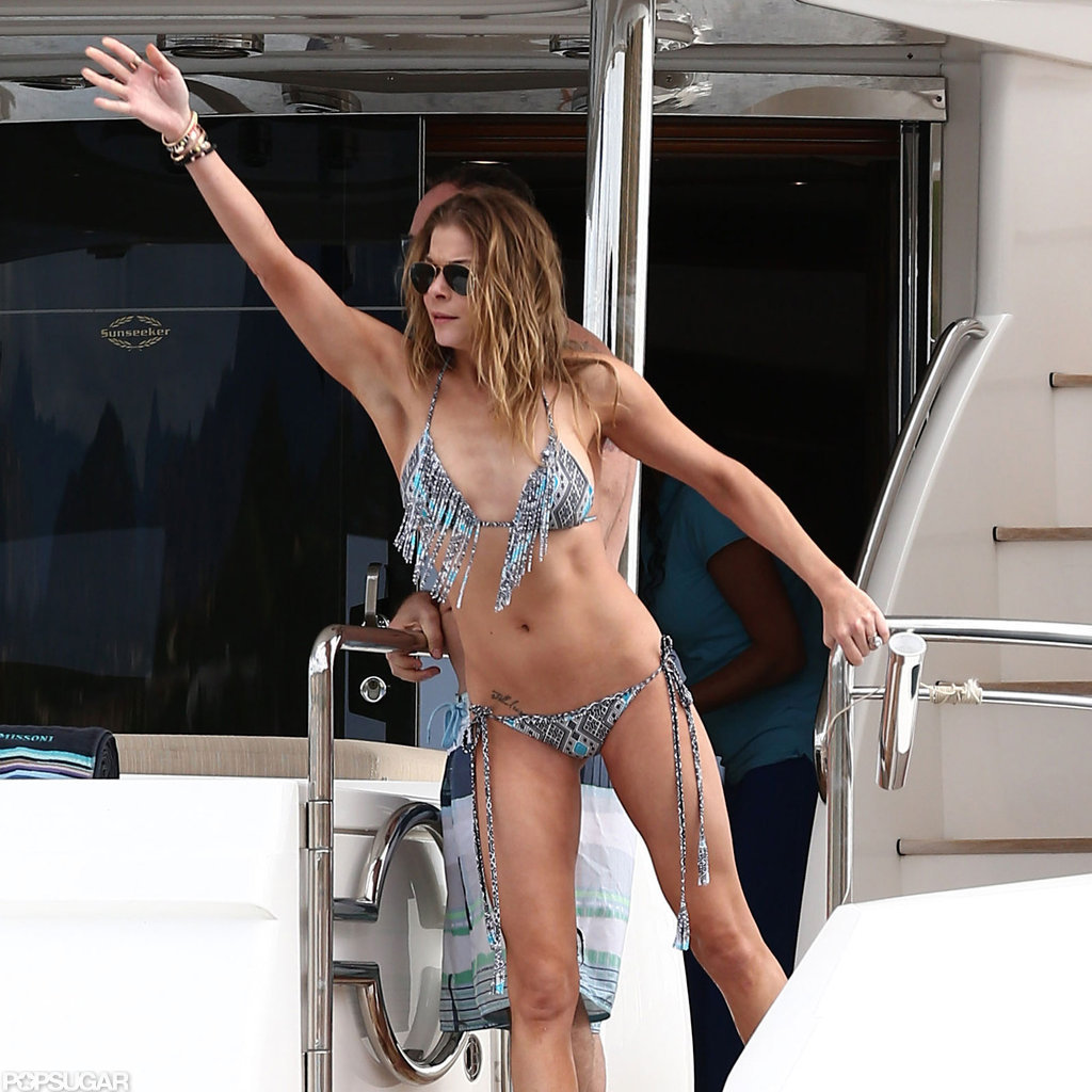 LeAnn Rimes waved in her bikini.