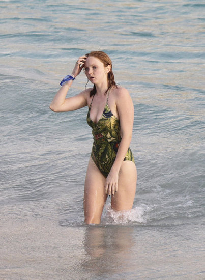Lily Cole and Jack Dorsey&#039;s Beach Vacation