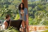 Ashley Greene chatted with a friend while wearing a bikini in Mexico.