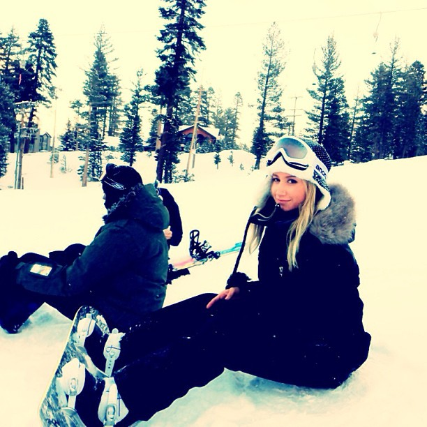 Ashley Tisdale hit the slopes. Source: Instagram user ashleytis