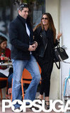 Nick Loeb and Sofia Vergara laughed on their walk.
