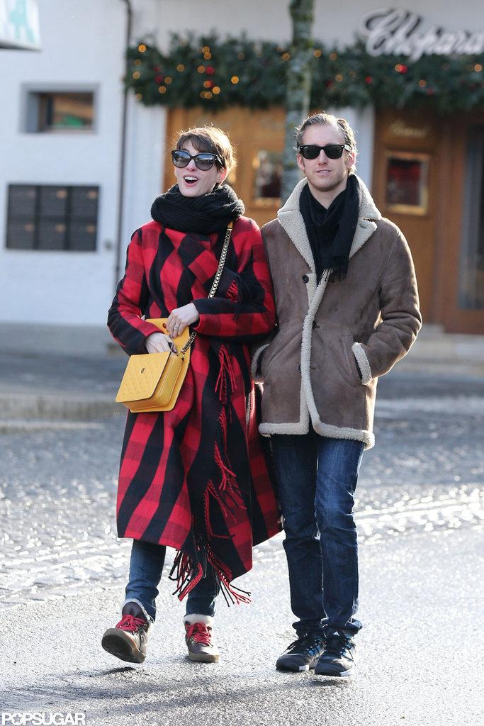 Anne Hathaway and Adam Shulman vacationed in Gstaad.