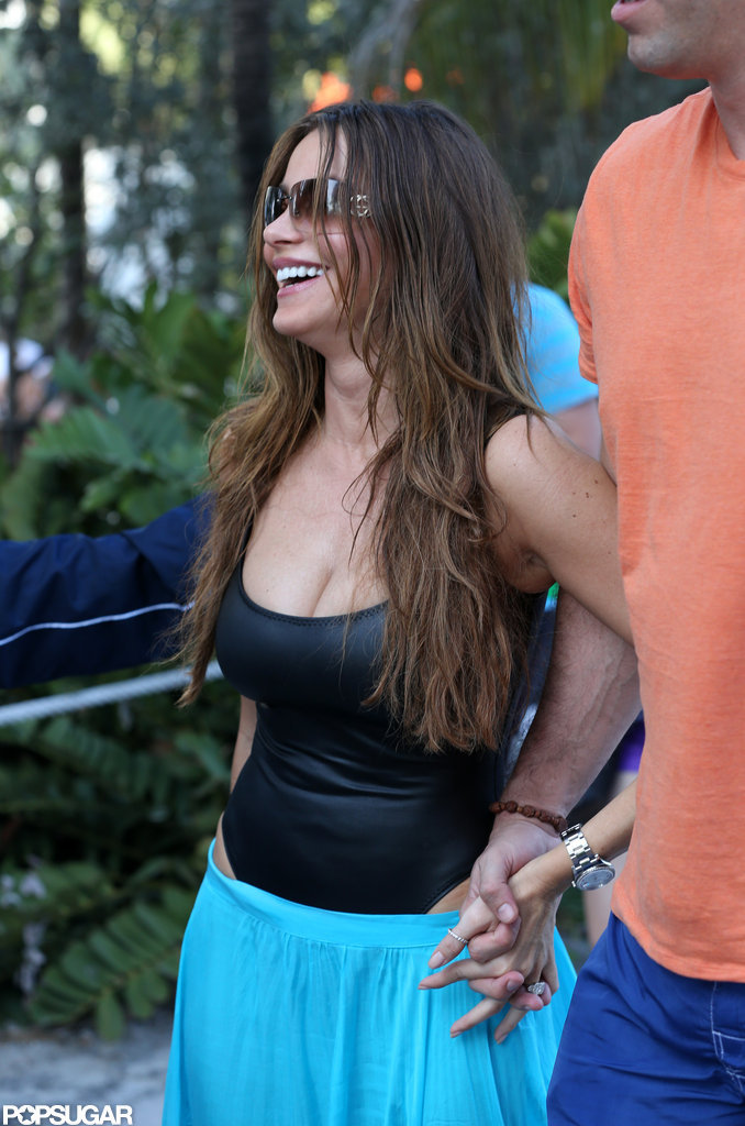 Sofia Vergara Shows Skin in a Cutout Swimsuit