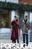 Anne Hathaway and Adam Shulman took photos in Switzerland.