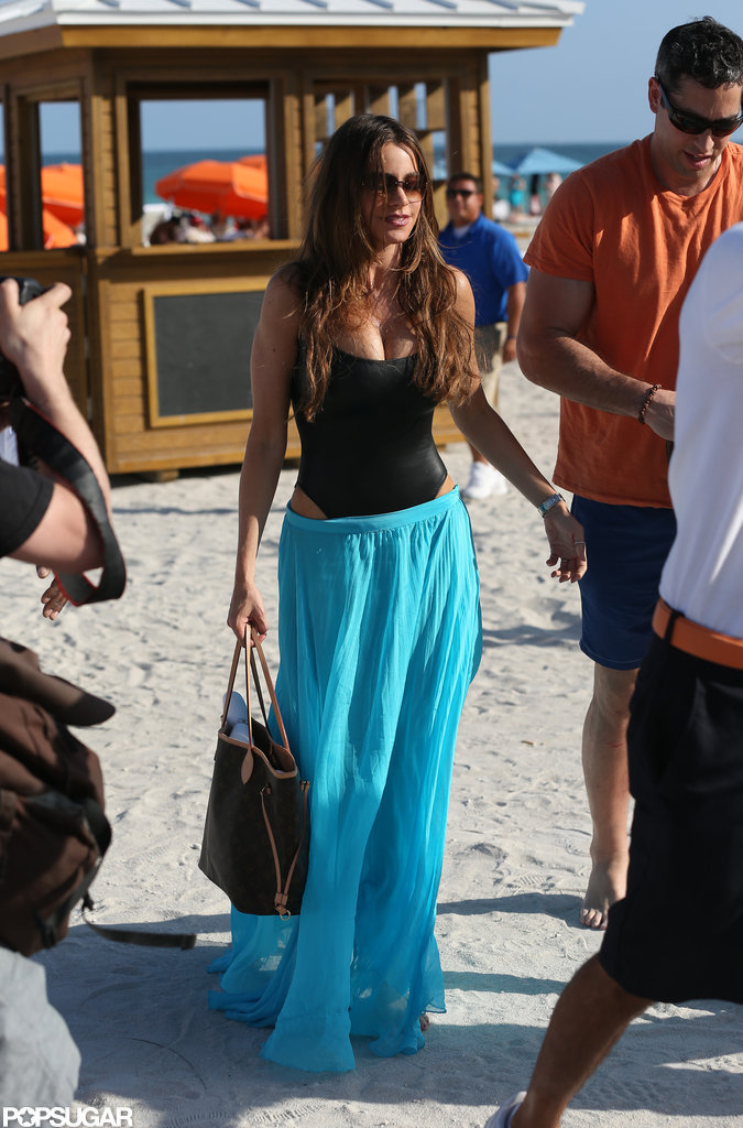 Sofia Vergara hit the beach in Miami.