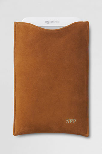 Suede and Shearling Ereader Case