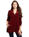 Michael Stars Cashmere Blend Snap Poncho