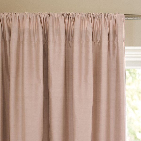 Blush Silk Shantung Window Panel ($228-$268)