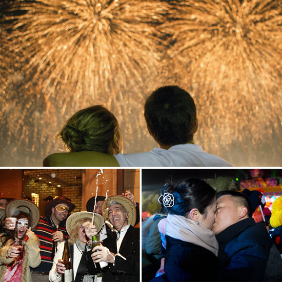 The World Welcomes 2013 With a Smooch, Pop, and Bang!