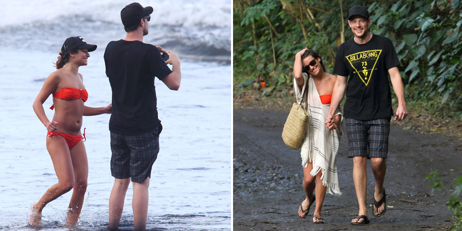 Lea Michele Sports a Sexy Red Bikini With Cory Monteith in Hawaii