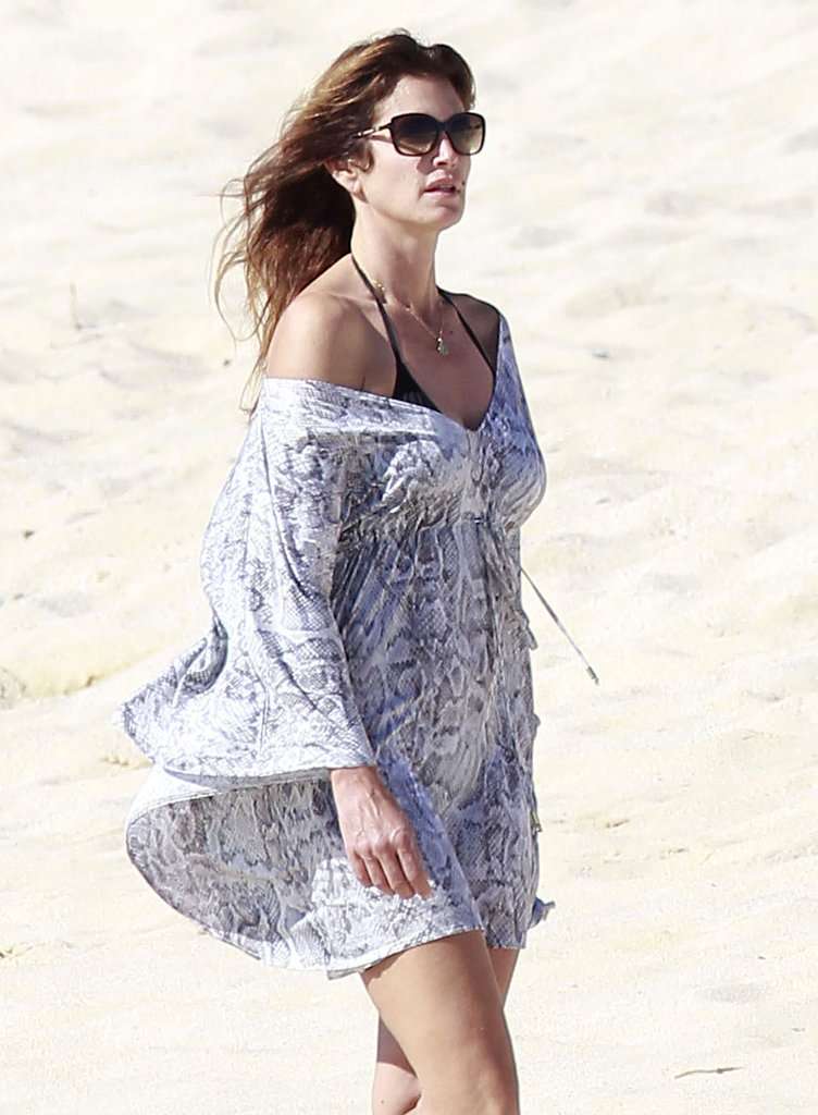 Cindy Crawford took in the view in Cabo.