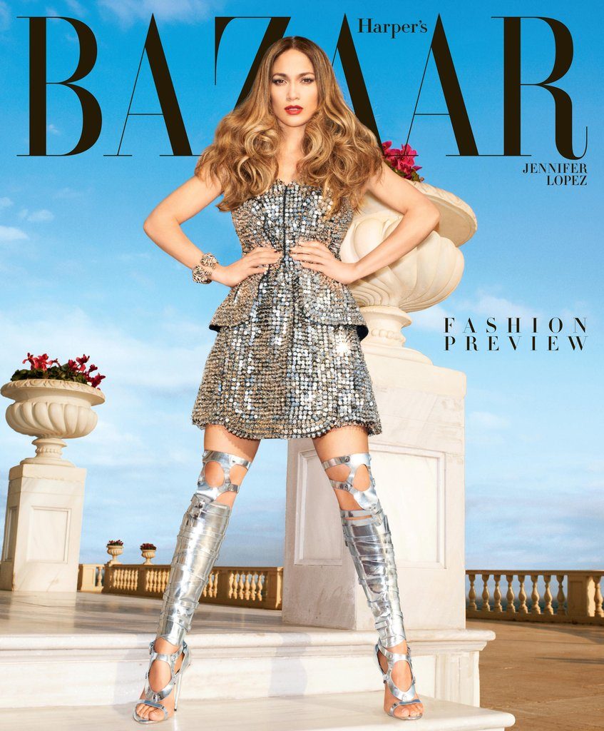 Jennifer Lopez struck a pose for the February issue of Harper's Bazaar.