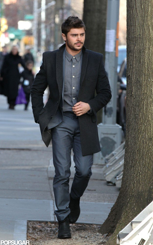 Zac Efron was on set in NYC.